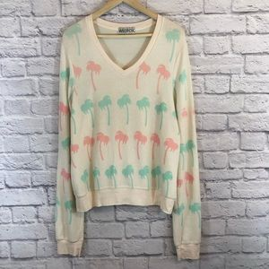 Wildfox | Large Palm Tree Fleece Lounge Shirt